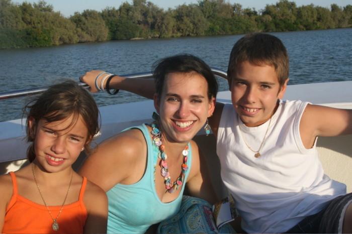Rachel with her host family in Avignon, France.