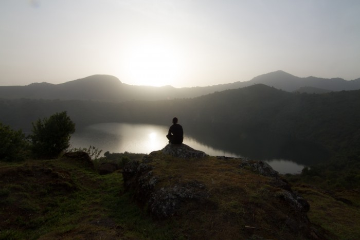Me looking out at the Twin Crater Lakes, located in the Southwest Region