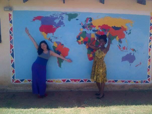 Jane and Chenoa, two high school classmates, serving in Peace Corps in South Africa