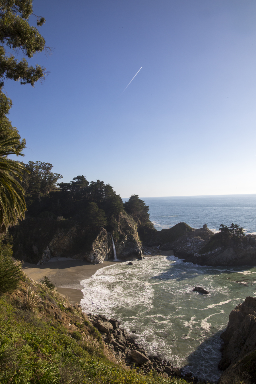 Viewing McWay Falls, a waterfall right on a beach, was one of the most magical things to see on Pacific Coast Highway.