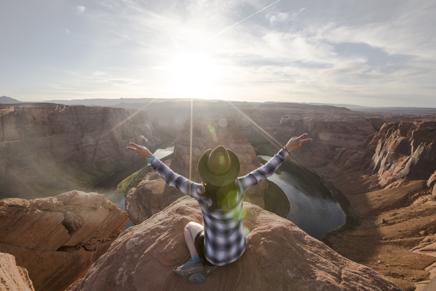 Horseshoe Bend! This destination located in Page has been on my bucket list for awhile. It's known for its unique geographical feature.
