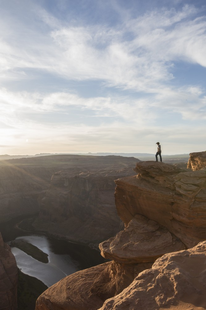 Horseshoe Bend is worth a stop on a southwest road trip. This nature destination is truly breathtaking. The boy in the photo is Alex.