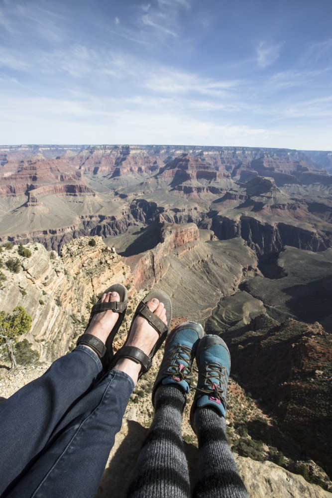 Sitting on the edge of a cliff in Grand Canyon was truly an adrenaline moment.