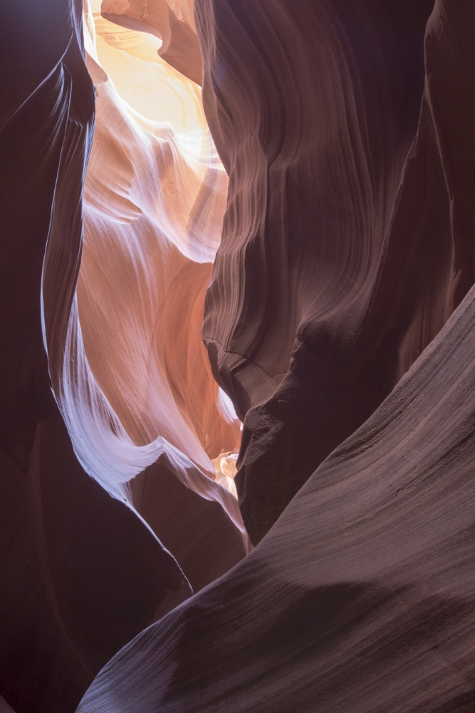 What makes Antelope Canyon so extraordinary is that one can see different colors created only by the sunlight. Because Antelope Canyon is on a Navajo reservation and preserving the beauty of the slot canyon is important, no tourist can go without a guide. Reservations have to be made far in advance as it can be booked a few months ahead.