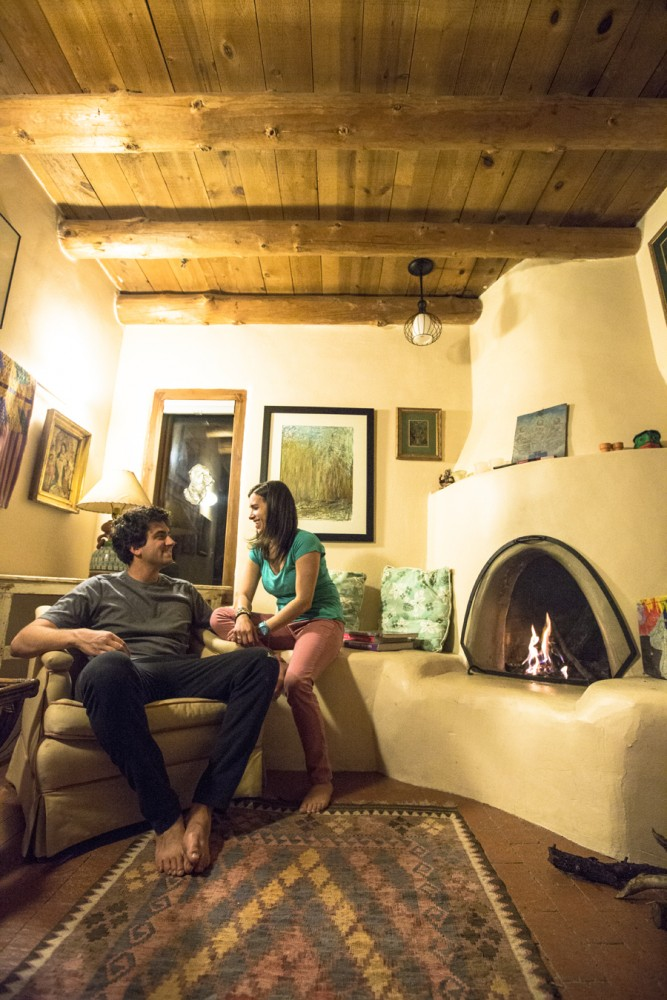 Alex and I stayed in an amazing traditional Pueblo home in Santa Fe for three nights.